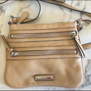 Nine West Taupe/Camel Crossbody Bag